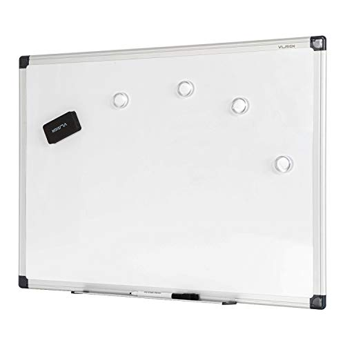 VUSIGN Magnetic Dry Erase Board, Whiteboard / White Board, 36 X 24 Inches, Silver Aluminium Frame