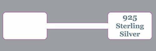 Confezione Da 100 - Argento 925 Ultra Resistente Rettangolare Gioielleria Dumbell Etichette Prezzo / Adesivi / Etichette Targhette