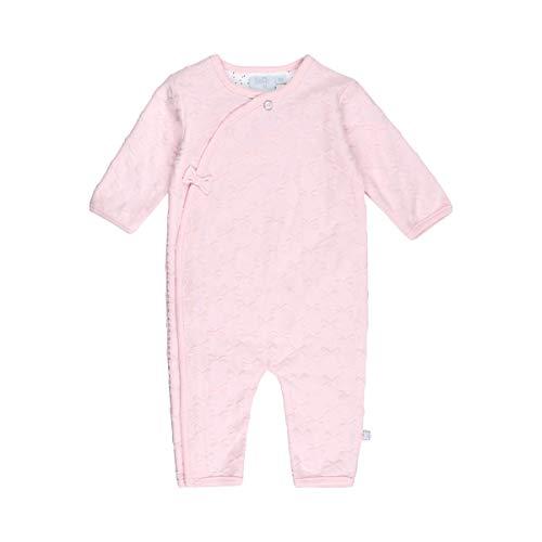 Feetje Baby-Mädchen Overall Overall mit Schleifen-Ausbrenneroptik, rosa, 68, Farbe:Rosa, Größe:50
