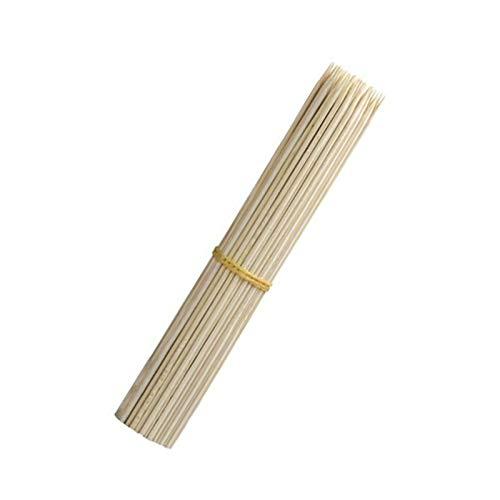 Spiedini di bambù da 25 cm, 100 bastoncini di legno per barbecue e barbecue, ideali per grigliate, kebab, frutta, fontane di cioccolato, fondute, sandwich, Marshmallow