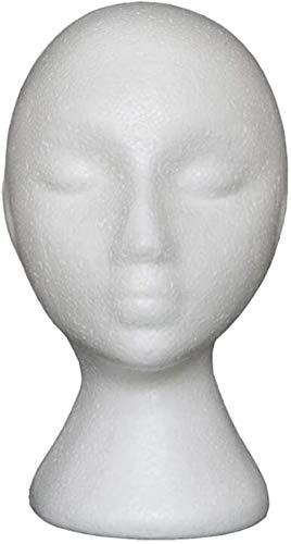 Mannequins de couture reglable Femme Mousse Modèle Chapeau tête malléable Perruque Holder Présentoir Rack, Blanc Porte vêtement Mannequin