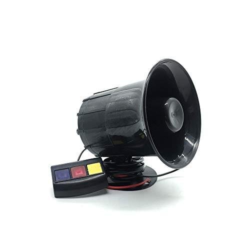 GXDJQLB 3 moto suena la bocina de tono de 12V DC auto del coche de la motocicleta de voz Cuerno de sirena altavoz ruidoso 130dB Alarma 12V