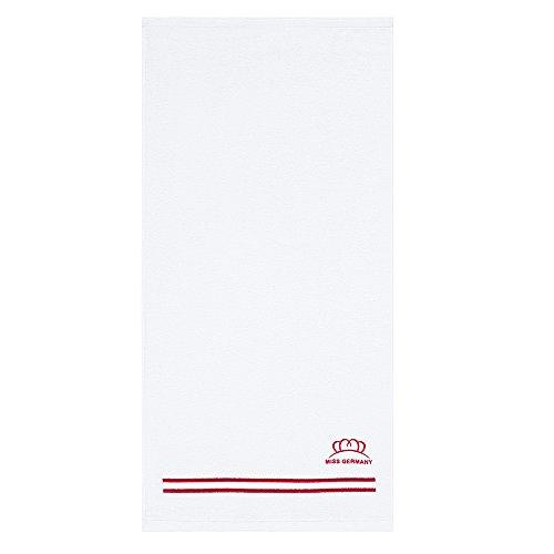 Egeria handdoeken van 100% hoogwaardig katoen - rood 70 x 140 cm