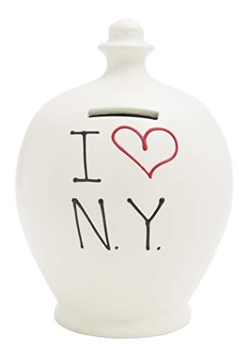Terramundi Salvadanaio Love NY (New York), Bianco–S96