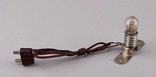 Glühbirne E10 mit Metallsteg, Krippenbeleuchtung. 3,5- 4,5V