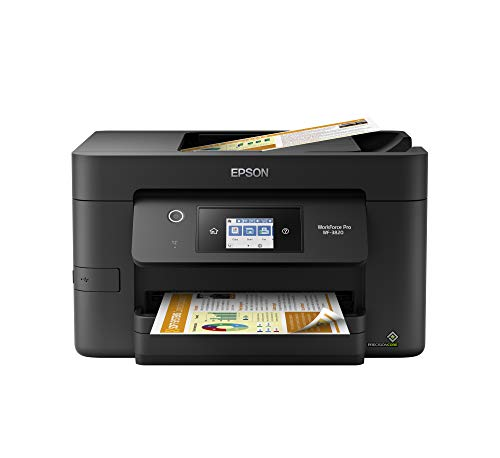 Epson Workforce Pro WF-3820 Wireless All-in-One Printer with Auto 2-Sided Printing, 35-Page ADF, 250-sheet Paper Tray and 2.7' Color Touchscreen, Works with Alexa