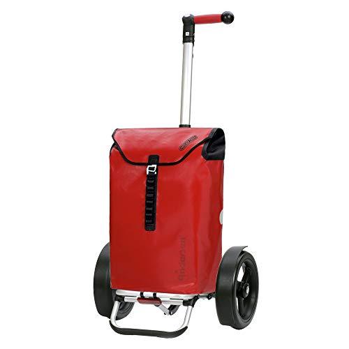 Andersen Shopper Tura Alu klappbar mit Kugellagerrad Ø 29cm und 49 Liter Tasche Ortlieb rot