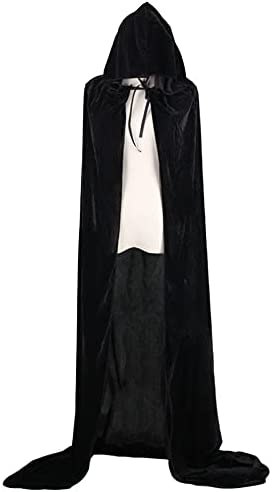 Halloween Hooded Cloak Max 46% OFF Velvet Witches A Death Long Cape Princess Fresno Mall