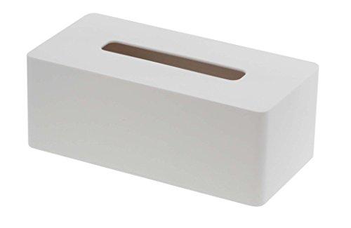 山崎実業 ティッシュ ケース ティッシュ ボックス 厚型対応 タワー ホワイト 3901