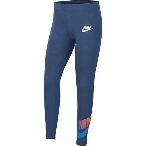 Nike Mädchen Favorites Ff Leggings, Mystic Navy/White, L