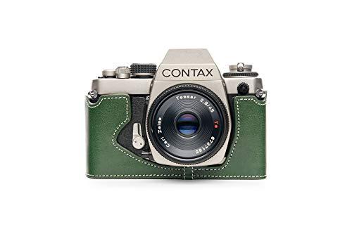TP Original Contax S2 専用 ブルタイプ 本革 ボディケース 緑色