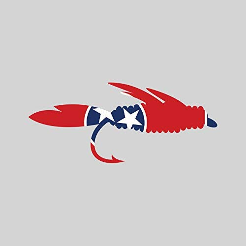 Tennessee Fly Fishing Sticker Vinyl Decal Sticker TN Fish Lure Tackle Flies Made in USA