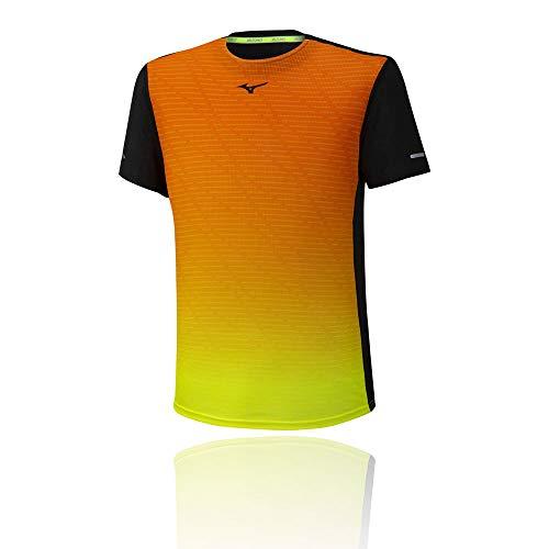 Mizuno Herren Aero T-Shirt, Black, M