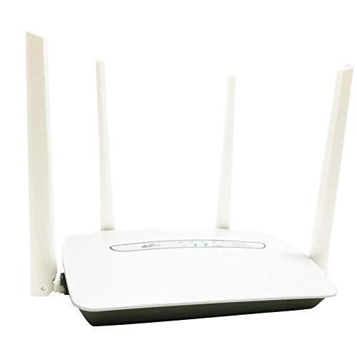 Mogzank Router WiFi 4G Router InaláMbrico 150Mbps con 4 Antenas hasta 32 Usuarios para TeléFonos Inteligentes PC Laptop (Enchufe de la UE)
