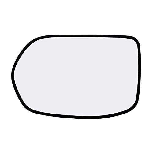 Left Hand Driver Side Mirror Assembly Plastic Backing Plate Compatible With 2007 2008 2009 2010 2011 Honda CR-V CRV Glass 7-5/8 Inch Diagonal Sold By Rugged TUFF
