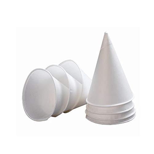 JHON Unidades de Vasos de Papel Desechables con Forma de Cono de Nieve para Bebidas de Aceite o proteínas