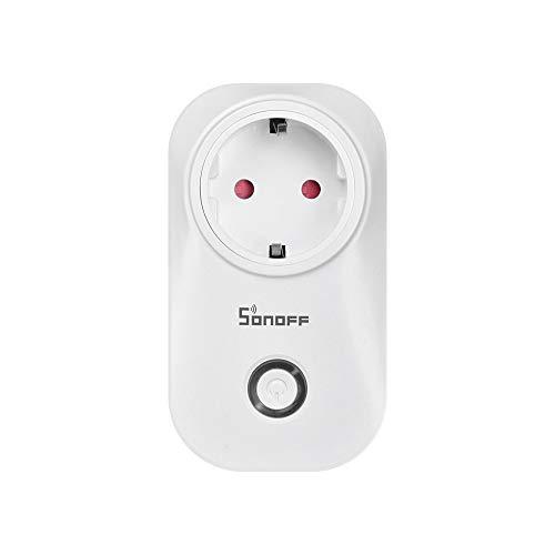 Sonoff S20 Smarte Steckdose, WLAN Steckdosen, funktionieren mit Amazon Alexa, Echo, Echo Dot, Google Home und IFTTT, Steuern Sie Ihre Geräte von überall aus (1 Stück)