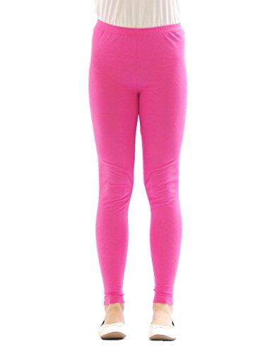 yeset yeset Kinder Mädchen Leggings lang Blickdicht aus Baumwolle Hose Jungen Rosa 122