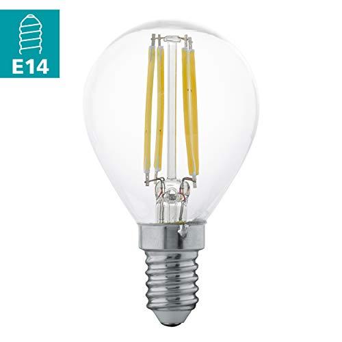 Preisvergleich Produktbild EGLO LED E14 Lampe,  Glühbirne klassisch,  LED Tropfen für Retro Beleuchtung,  4 Watt (entspricht 30 Watt),  350 Lumen,  E14 LED warmweiß,  2700 Kelvin,  LED Leuchtmittel,  Edison Glühbirne P45,  Ø 4, 5 cm