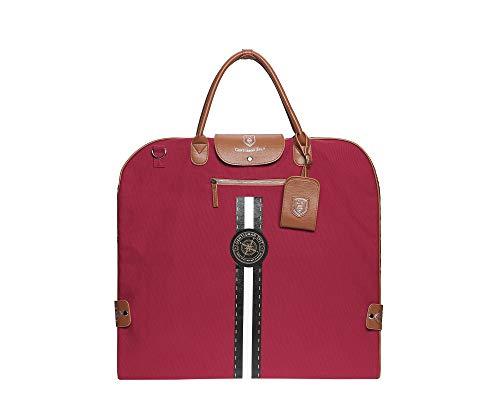GENTLEMAN SYLT Anzugtasche, Kleidersack Damen & Herren, Kleiderhülle rot, Reisetasche zur faltenfreien Aufbewahrung 57x60cm