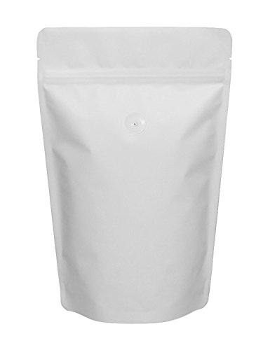 Review Of BAP 8 oz Matte White Stand Up Pouch, Zip with Valve for Coffee (500 pcs)