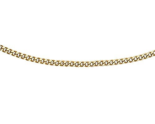 Carissima Gold Women's 9 ct Yellow Gold 0.8 mm Diamond Cut Adjustable Curb Chain Necklace of Length 41 cm/16 Inch - 46 cm/18 Inch
