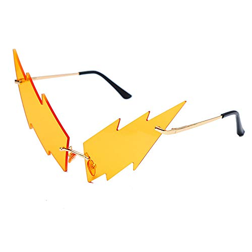 DLSM Coole blitzförmige Brille, unregelmäßige Sonnenbrille, Sonnenbrille, Schutzbrille-C1