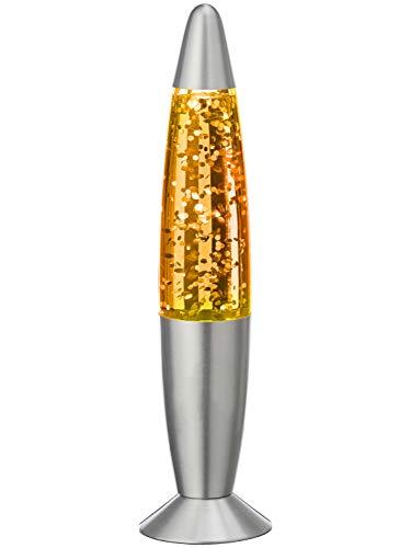 MIK funshopping Lavalampe Glitterlampe Glitzer Retro Floating Glitter 34 cm (orange)