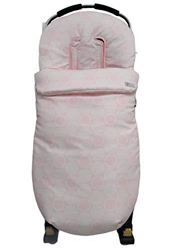 Saco silla paseo universal sacos carrito (Círculos rosa)