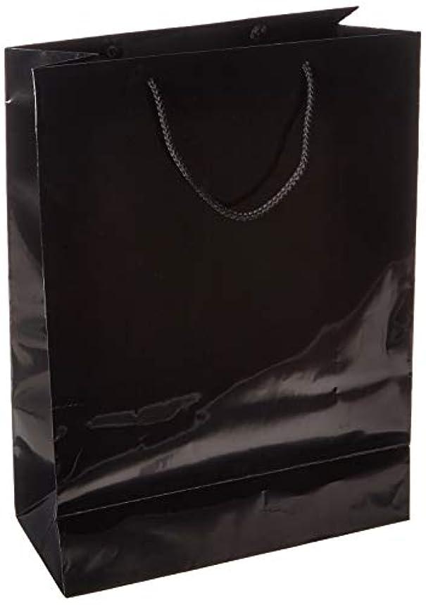 Black Jumbo Solid Glossy Bag Value Pack | 12 Ct.