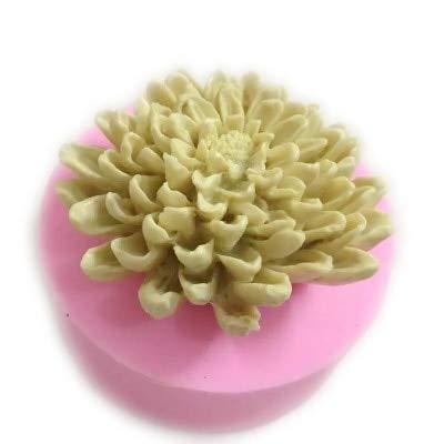 IBQ Molde Silicona Moldes de jabón de Flores de crisantemos 3D Molde de Arcilla de Velas Moldes de decoración de Fondant Moldes para Hornear H548