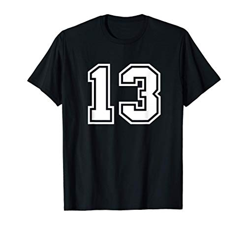 Camiseta de equipo número 13 Regalo deportivo Camiseta