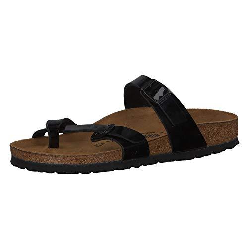 Birkenstock Mayari Mules/Clogs Women Black/Patent - 9.5 - Mules Shoes