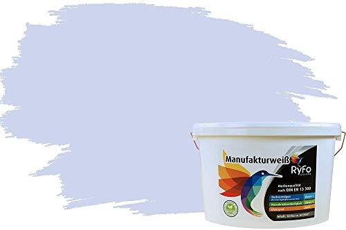 RyFo Colors Bunte Wandfarbe Manufakturweiß Lavendel 10l - weitere Violett Farbtöne und Größen erhältlich, Deckkraft Klasse 1, Nassabrieb Klasse 1