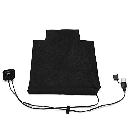 Jiayuane Almohadilla climatizada para Ropa, 8 en 1 USB Ropa eléctrica Almohadilla eléctrica Calentador de Fibra térmica de Fibra de Carbono con Calentador de láminas para Hombres