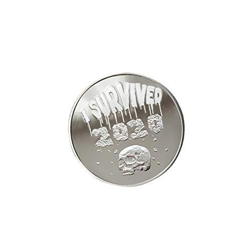 Medalla Survived 2020, Lucky Survivor Todavía Estoy Vivo, Juego De Monedas Conmemorativas Con Letra Grabada, Regalo De Recuerdo Para Coleccionistas De Monedas