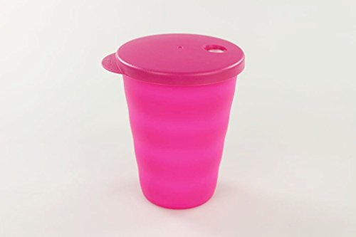TUPPERWARE Junge Welle Trinkhalmbecher 330 ml neon pink Trinkhalm Becher