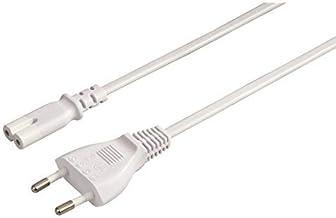 Cable de alimentacion IEC-320-C7 1.8 Metros Blanco, Cablepelado