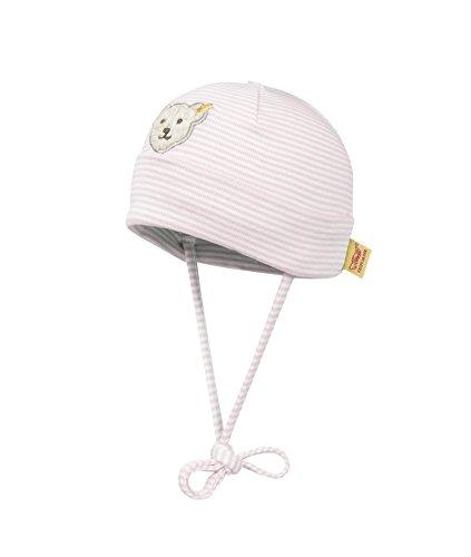 Steiff Unisex - Baby Mütze 0006610 Mütze Gr. 39 Cm Kopfumfang, Gestreift, Gr. 39 (Herstellergröße: 39), Rosa (Barely Pink 2560)