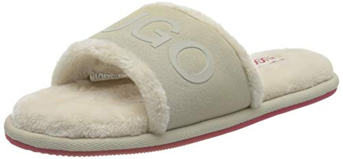 HUGO Damen Cozy_Slide_sc Hausschuh, Open White114, 38 EU
