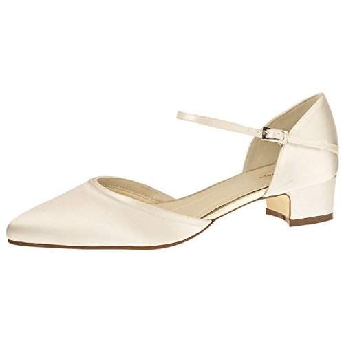 Rainbow Club Brautschuhe Piper - Damen Pumps 38 EU Ivory/Creme Satin