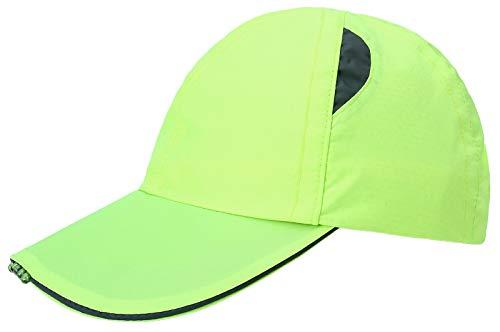 Michael Heinen - Berretto da baseball con luce a LED, taglia regolabile, ideale per jogging e attività all'aperto giallo fluo Taglia unica