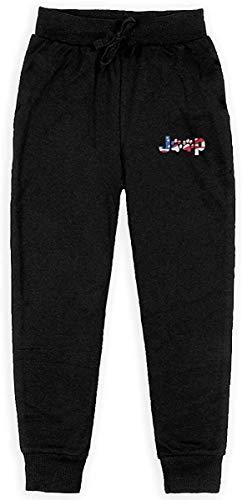 not applicable Cotton Teens Jogginghose, Unisex-amerikanische Flagge Jeep Hosen Gummizug Jogger Hosen mit Taschen, S-XL