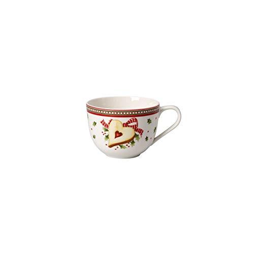 Villeroy & Boch Winter Bakery Delight Kaffeetasse, 230 ml, Premium Porzellan, Weiß/Rot