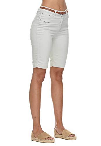 Ragwear Damen Shorts BOBINY 2111-50009 Light Grey 3003 Hellgrau, Hosengröße:27