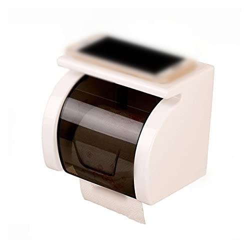 YANGHUAWU Supporto per la Carta igienica Supporto per la Carta igienica Impermeabile Scatola di stoccaggio del Telefono della Carta igienica Deposito della Carta da Bagno del Tessuto (Color : White)