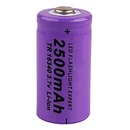 16340 2500mAh 3.7V batería Recargable de Iones de Litio para Linterna (16 * 34mm, 3pcs)