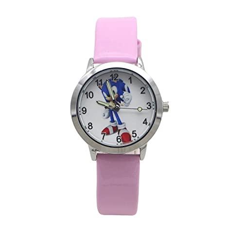 XIANGA Reloj Sonic Patrones Juguetes Niños Relojes Niños Pulsera Niña Niño Regalo de Cumpleaños Reloj Bebé Reloj Hombres Cuarzo Reloj de Pulsera Círculo