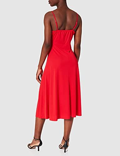 Morgan Robe Midi A Bretelles 211-REGAL Vestido, Rojo, 42 para Mujer