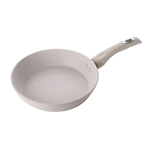 SMEJS Blanc cassé Frying Pan - Art de la table en métal multi-fonction Maifan Pierre antiadhésive Mini Frying Pan